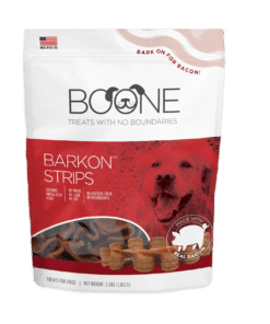 Bacon treat for dogs